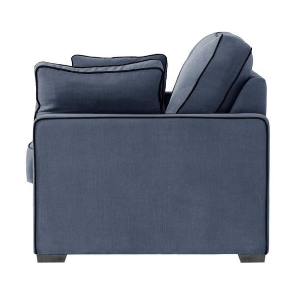 Sofa 3-osobowa Jalouse Maison Serena, granatowa