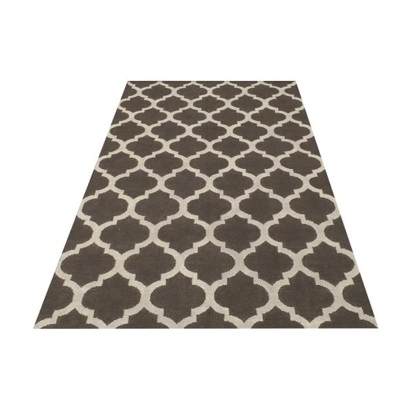 Ręcznie tkany dywan Andrea Grey/White, 140x200 cm