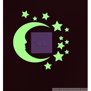 Naklejka świecąca w ciemności Ambiance Moon and Stars, 22x20 cm