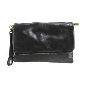 Czarny portfel skórzany Chicca Borse Grena