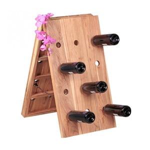 Regał na wino z litego drewna palisandru Skyport Bella
