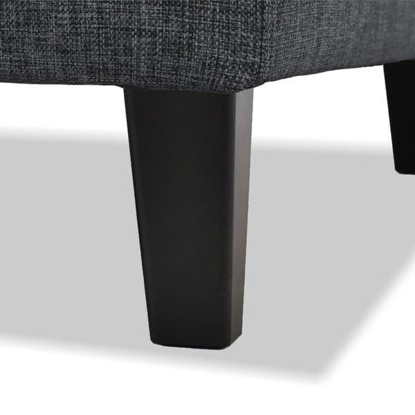Antracytowa sofa 2-osobowa Vivonita Monroe
