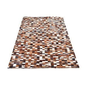 Skórzany dywan Mosaik, 193x143 cm