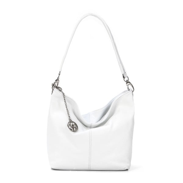 Skórzana torebka Marco, biała