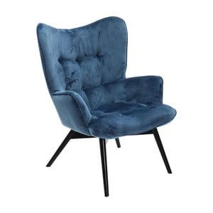 Granatowy fotel Kare Design Vicky Velvet