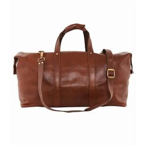 Skórzana torba podróżna Cognac