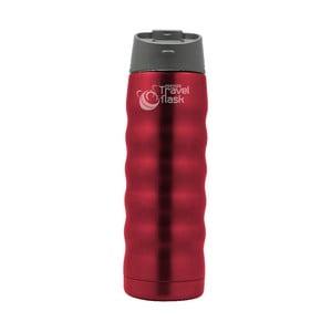 Czerwona podróżna butelka termiczna Pioneer, 480 ml
