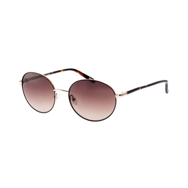 Damskie okulary przeciwsłoneczne GANT Oval Brown Gold