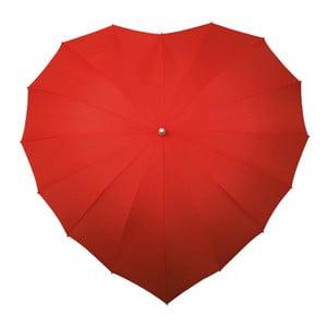 Czerwony parasol w kształcie serca Ambiance Heart, ⌀107cm
