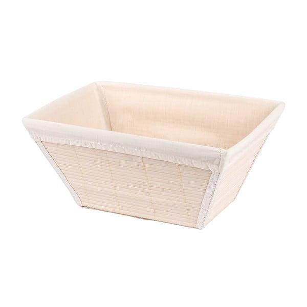 Biały koszyk bambusowy Wenko Bamboo, szer. 31 cm