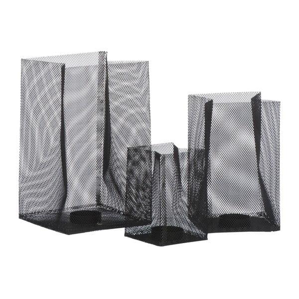Świecznik Metal Black, 14x14x23 cm