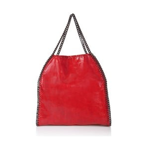 Skórzana torebka Markese 126 Red