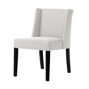 Kremowe krzesło z czarnymi nogami Ted Lapidus Maison Zeste