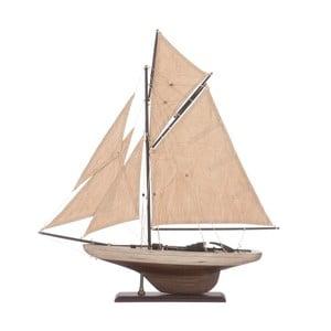 Dekoracja: statek Sail Boat Beige, 55 cm