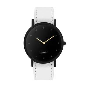 Czarny zegarek unisex z białym paskiem South Lane Stockholm Avant Pure