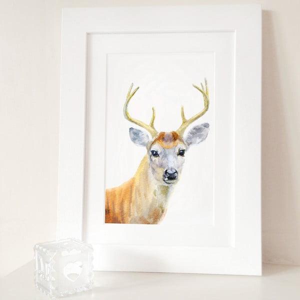 Plakat Deer Portrait A4