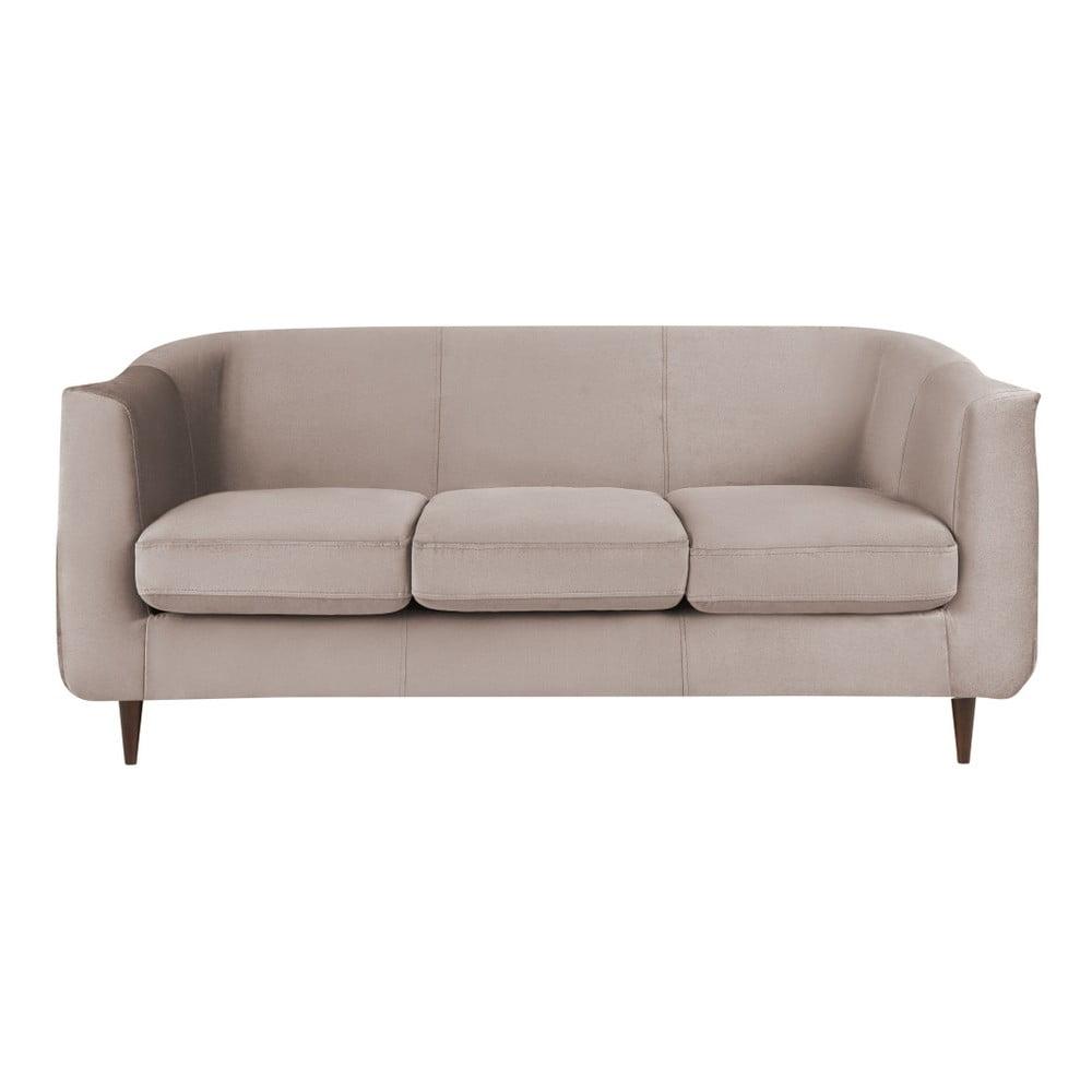Beżowa sofa Kooko Home Glam, 175 cm