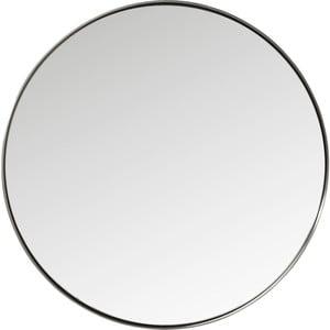 Lustro okrągłe w czarnej ramie Kare Design Round Curve, ⌀100cm