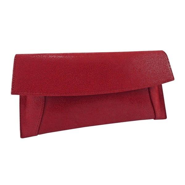 Skórzana kopertówka Boscollo Red 2963