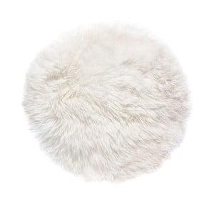 Biały dywan okrągły z owczej wełny Royal Dream Zealand, Ø70cm