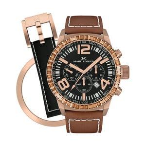Zegarek damski Marc Coblen z dodatkowym paskiem i obręczą P107