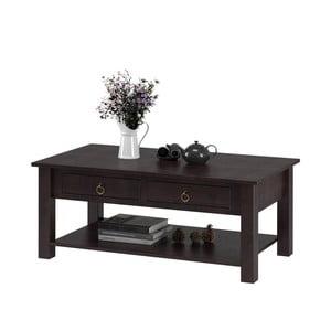 Ciemnobrązowy stolik z drewna sosnowego Støraa Inda