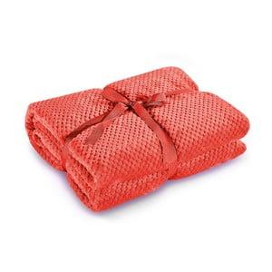 Czerwony koc z mikrowłókna DecoKing Henry, 220x240 cm