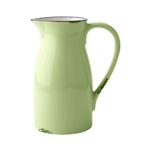 Dzbanek ceramiczny, limonka/kremowy