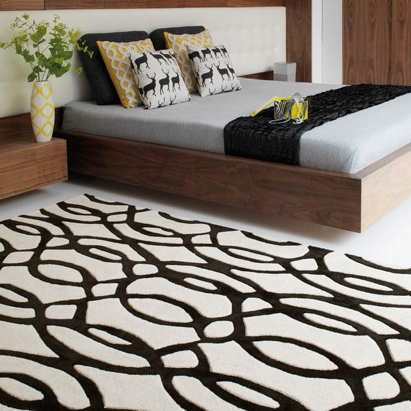 Wełniany dywan Matrix Wire White 120x170 cm