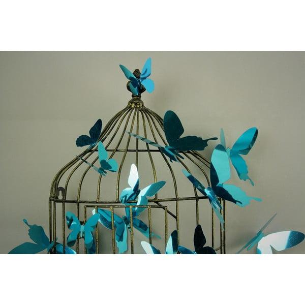 Zestaw 12 niebieskich naklejek 3D Ambiance Butterflies Blue