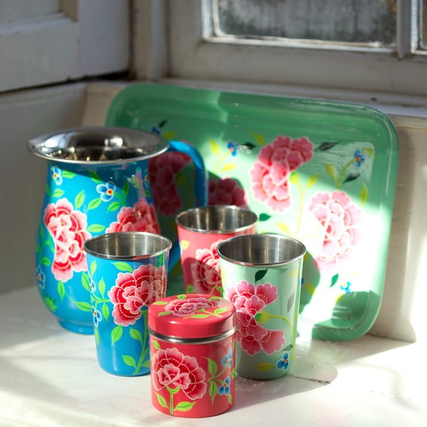 Kubek Franjipani Floral Cup, różowy