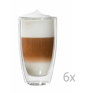 Zestaw 6 szklanek na latte macchiato bloomix Roma