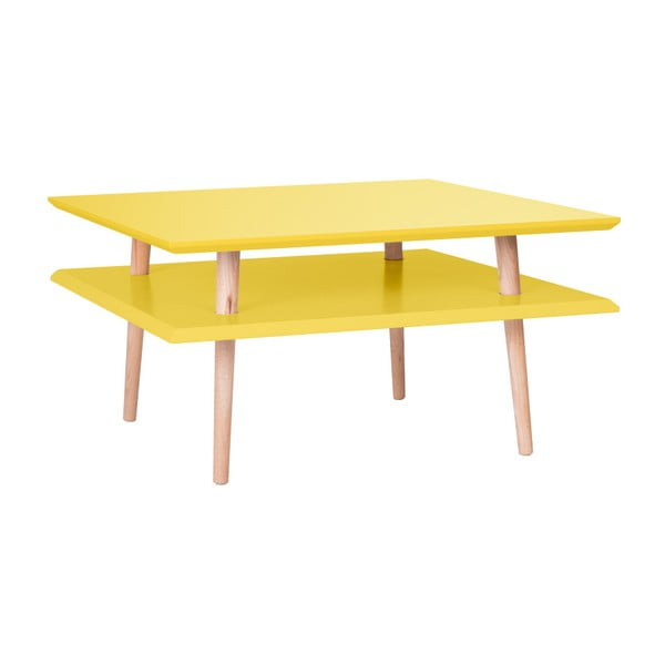 Żółty stolik Ragaba Square, 68x68 cm
