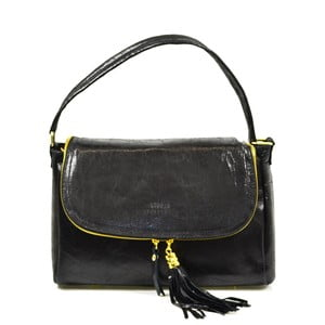 Skórzana torebka Eleonore, czarna