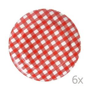 Zestaw 6 talerzy Livia 24 cm, czerwony