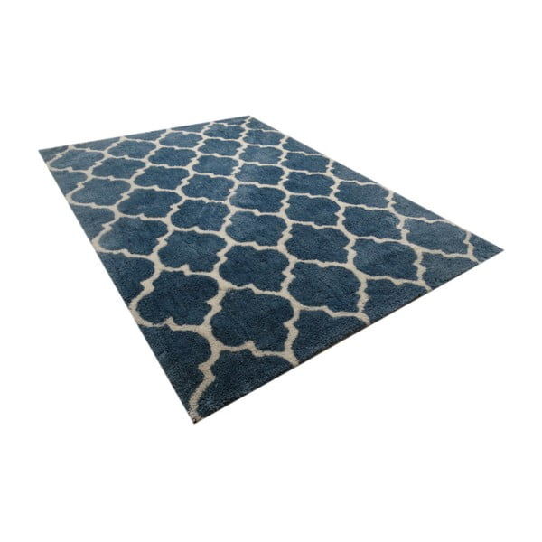 Niebieski dywan Smooth, 80x150cm