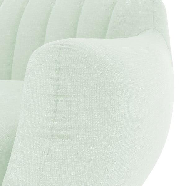 Pastelowa zielona sofa trzyosobowa Vivonita Kennet