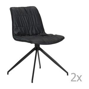 Zestaw 2 czarnych krzeseł DAN– FORM Dazz