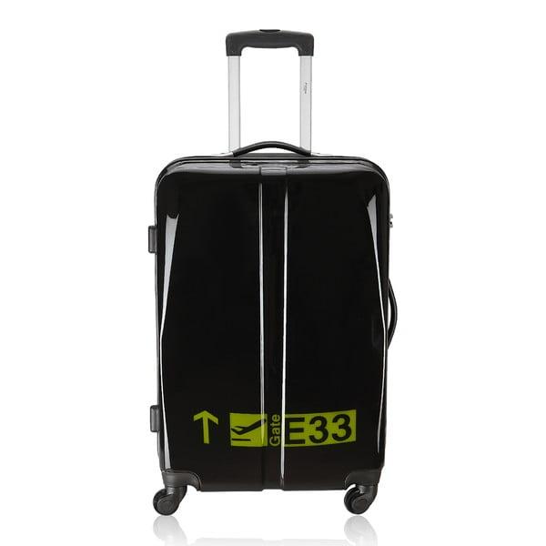 Zestaw 3 czarnych walizek na kółkach Hero Cadenas
