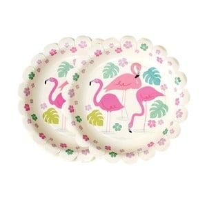 Zestaw 8 talerzy papierowych Rex London Flamingo Bay
