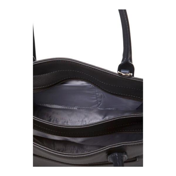 Skórzana torebka do ręki Marta Ponti Pocket, szara/beżowa
