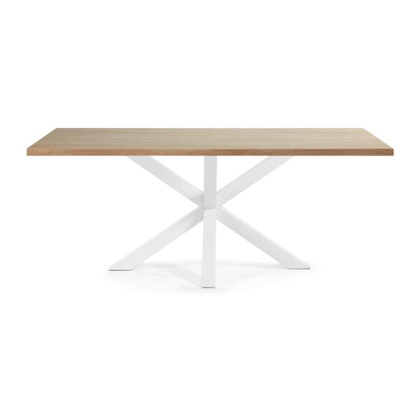 Biały stół z białymi nogami La Forma Arya, 200 x 100 cm