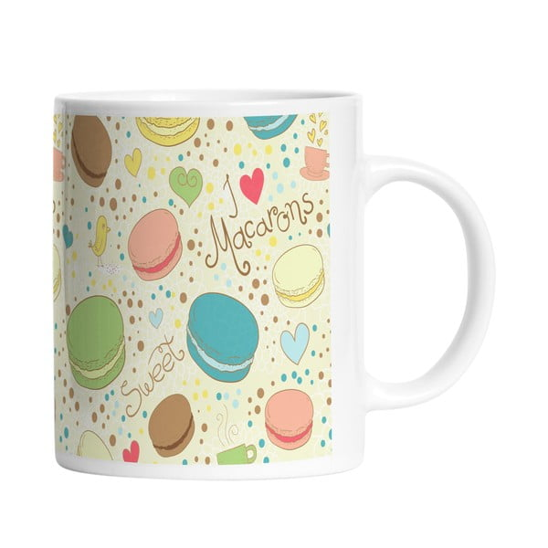 Ceramiczny kubek Love Macarons, 330 ml