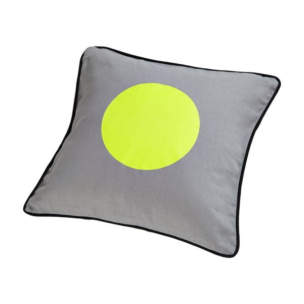 Poduszka z pierza kaczego Dot Grey/Lime