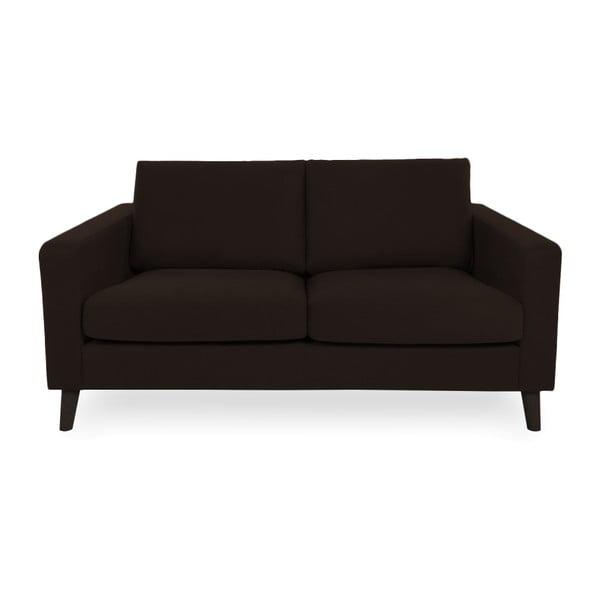 Ciemnobrązowa sofa 2-osobowa z czarnymi nogami Vivonita Tom