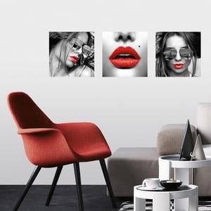 Samoprzylepne obrazy Usta, 30x30 cm