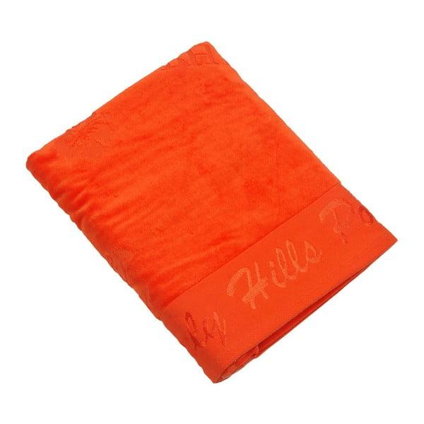 Ręcznik bawełniany BHPC Velvet 80x150 cm, pomarańczowy