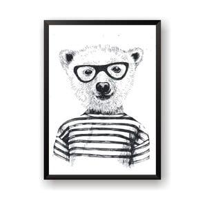 Plakat Nord & Co Hipster Bear, 21 x 29 cm