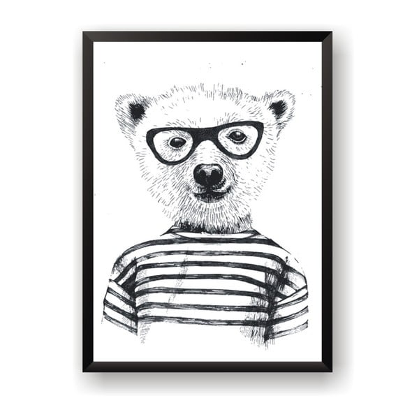 Plakat Nord & Co Hipster Bear, 30 x 40 cm