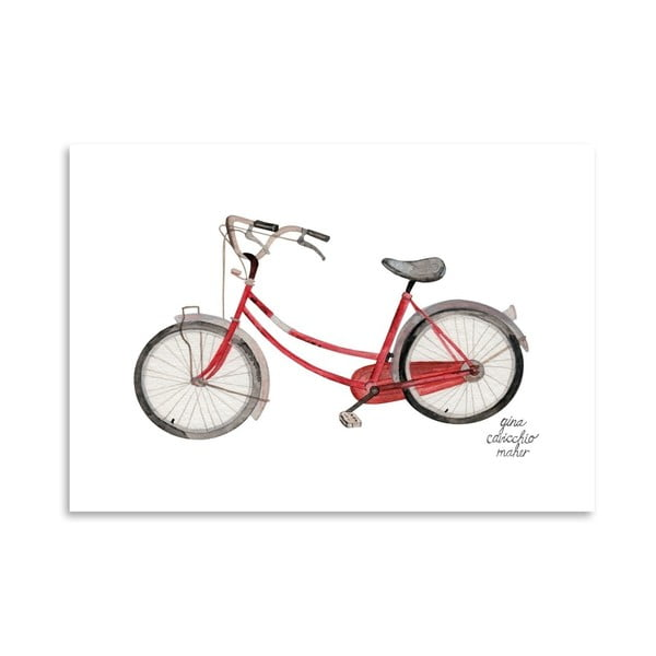 Autorski plakat Bicycle, 30x42 m